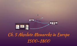 Ch. 5 Absolute Monarchs in Europe,