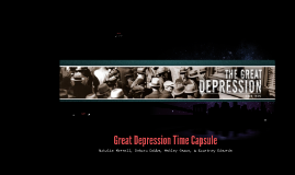 Great Depression Time Capsule