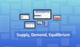 Supply, Demand, Equilibrium