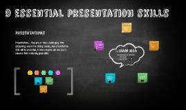 9 Essential Presentation Skills
