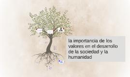 Copy of la importancia de los valores el en desarrollo de la sociedad