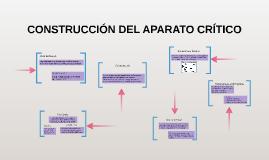 Copy of CONSTRUCCIÓN DEL APARATO CRÍTICO