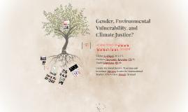 Gender and Environmental Vulnerability