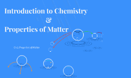 Introduction to Chemistry & Properties of Matter