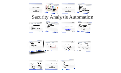 Security Analysis Automation