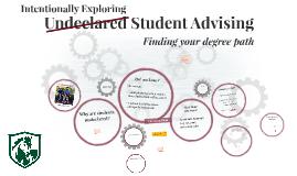 Undeclared Student Advising