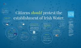Citizens should protest the establishment of Irish Water.