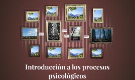 Introducción a los procesos psicológicos