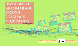 USAGE-BASED GRAMMAR AND SECOND LANGUAGE ACQUISITION