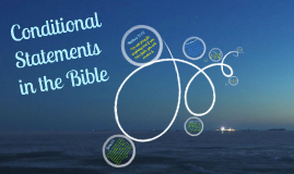 Conditional Statements in the Bible by JHS (Modified)