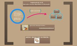 Implementación de SL: Guía sobre recursos disponibles