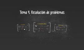Tema 4. Resolución de problemas