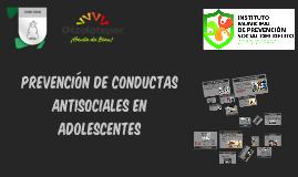 PREVENCIÓN DE CONDUCTAS ANTISOCIALES EN ADOLESCENTES