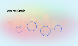Voici ma famille