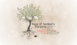 Tone & Author's Purpose