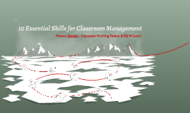 Copy of Essential Skills for Classroom Management