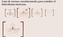 Guía de normas constitucionales para estudiar el federalismo