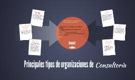 Principales tipos de organizaciones de consultoría