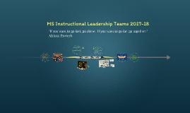MS Instructional Leadership Team Meeting 1