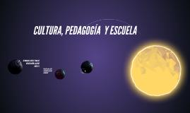 CULTURA, PEDAGOGÍA  Y ESCUELA