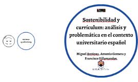 Problemática de la sostenibilización curricular en España
