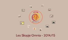 Leo Skopje Omnia - 2014/15