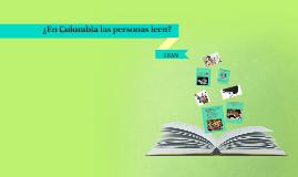 ¿en colombia las personas leen?