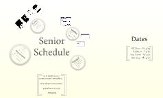 Senior Class Schedules