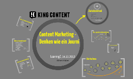 Content Marketing - Denken wie ein Journi