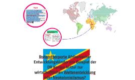 copy of rohstoffexporte afrikanischer entwicklungslnder am beispiel - Entwicklungslander Beispiele