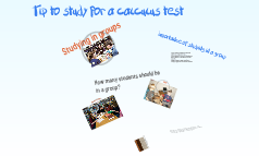 Ways to study for calculus test