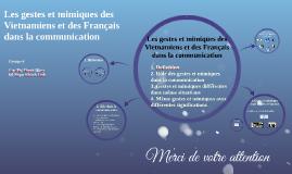 Les gestes et mimiques des Vietnamiens et des Français dans
