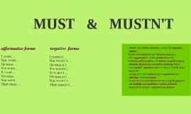 MUST    &    MUSTN'T