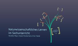 Copy of Naturwissenschaftliches Lernen im Sachunterricht