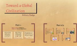 Toward a Global Civilization
