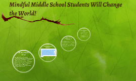Mindful Middle Schoolers