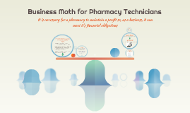 Business Math for Pharmacy Technicians