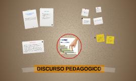 DISCURSO PEDAGOGICO
