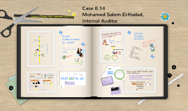 Case 8-14 Mohamed salem El-hadad, Internal Auditor