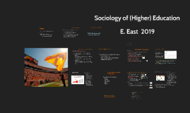 Sociology and Higher Education