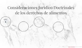 Consideraciones Jurídico Adoctrinales de los derechos de ali