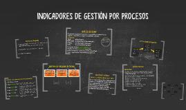 INDICADORES DE GESTION POR PROCESOS