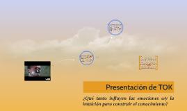 Presentación de TOK