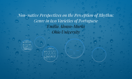 Non-native perspectives on the perception of rhythm