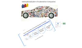 Internationalization of Automotive Companies