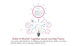 Copy of Rotter & Mischel: Cognitive Social Learning Theory