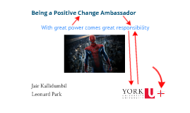 Being a Positive Change Ambassador