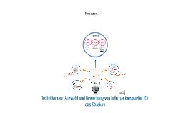 Copy of Informationsquellen - Auswahl und Bewertung