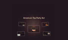 America's Tea Party Act