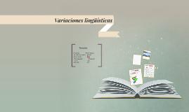 Variaciones lingüísticas